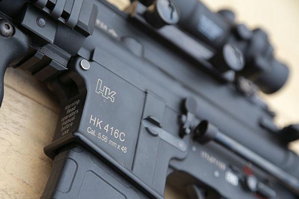 HK416,サバゲー,サバイバルゲーム, 装備, エアガン,写真,システマ,トレポン,トリジコン,Trijicon,MAGPUL,ITI M6X,Systema