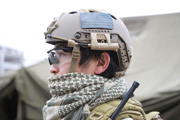 ヘルメット,Ops-Core FAST Carbon,シュマグ,サバゲー,サバイバルゲーム,格好,服装,ファッション,装備,写真,シューティンググラス,ESS
