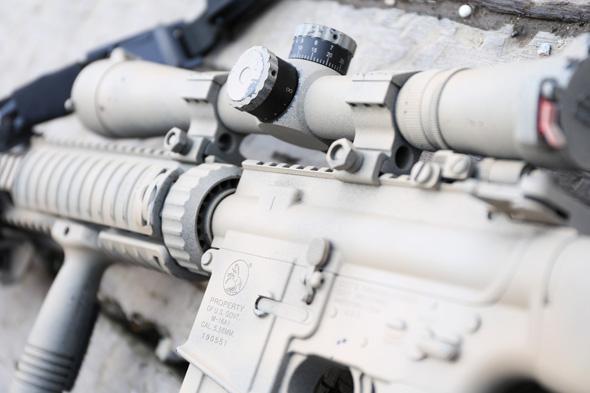 スコープ,LEUPOLD MARK4 M3タイプ,サバゲー,装備,エアガン,写真,PTW,システマ, MAX2, サイレンサー, スコープ,KAC, VFC MK12