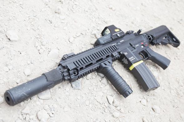 サバゲー, 装備, エアガン, 写真, マルイ, HK416, DEVGRU,  光学サイト, EOTech