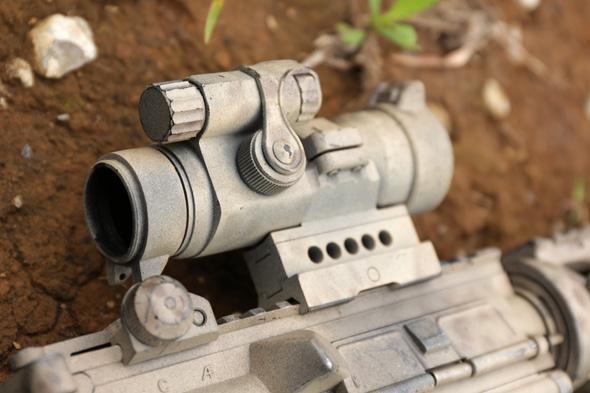 光学サイト, Aimpoint COMP M2タイプ, ドットサイト,サバゲー, 装備, エアガン, 写真, マルイ, M4A1