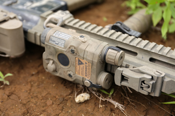外部バッテリー,サバゲー, 装備, エアガン, 写真, HK416D, 東京マルイ