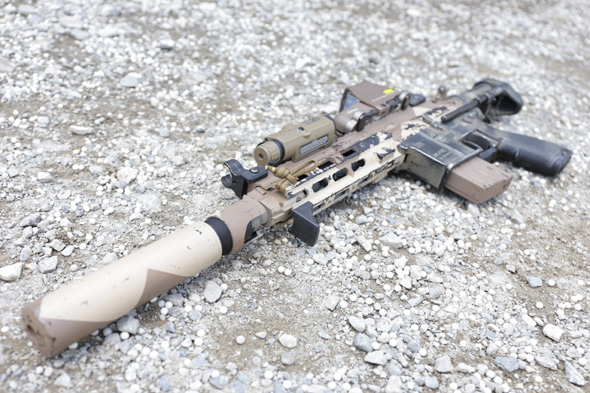 VFC HK416C,エアガン,ペイント,サバゲー,装備,サバイバルゲーム,格好,ファッション,服装,レイルハンドガード,DYNAMIC TACTICAL,EoTech 553