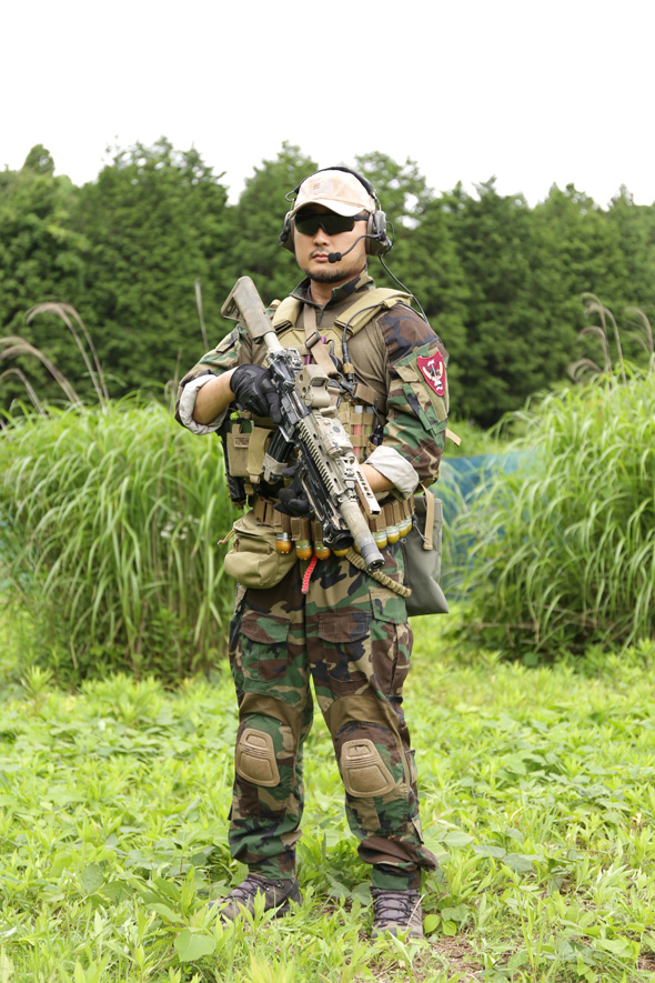 サバゲー,装備,サバイバルゲーム,格好,ファッション,服装,MARSOC,plate carrier,FLYYE INDUSTRIES,Flash Force Industries Woodland Gen3Y,SALOMON