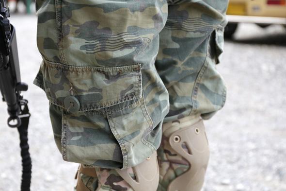 迷彩パンツ,Levi's,サバゲー,装備,サバイバルゲーム,格好,ファッション,服装