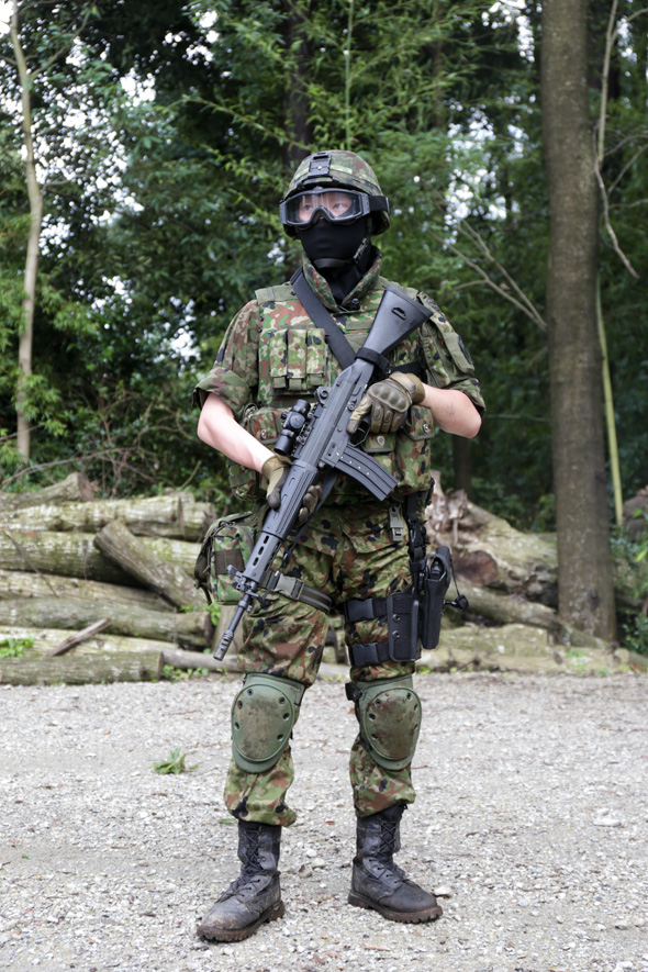 サバゲー,サバイバルゲーム,格好,服装,ファッション,装備,自衛隊迷彩,Japan Ground Self-Defense Force camo